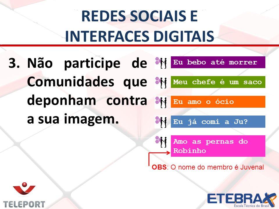 REDES SOCIAIS E INTERFACES DIGITAIS TENHA E MANTENHA UM BLOG 1.