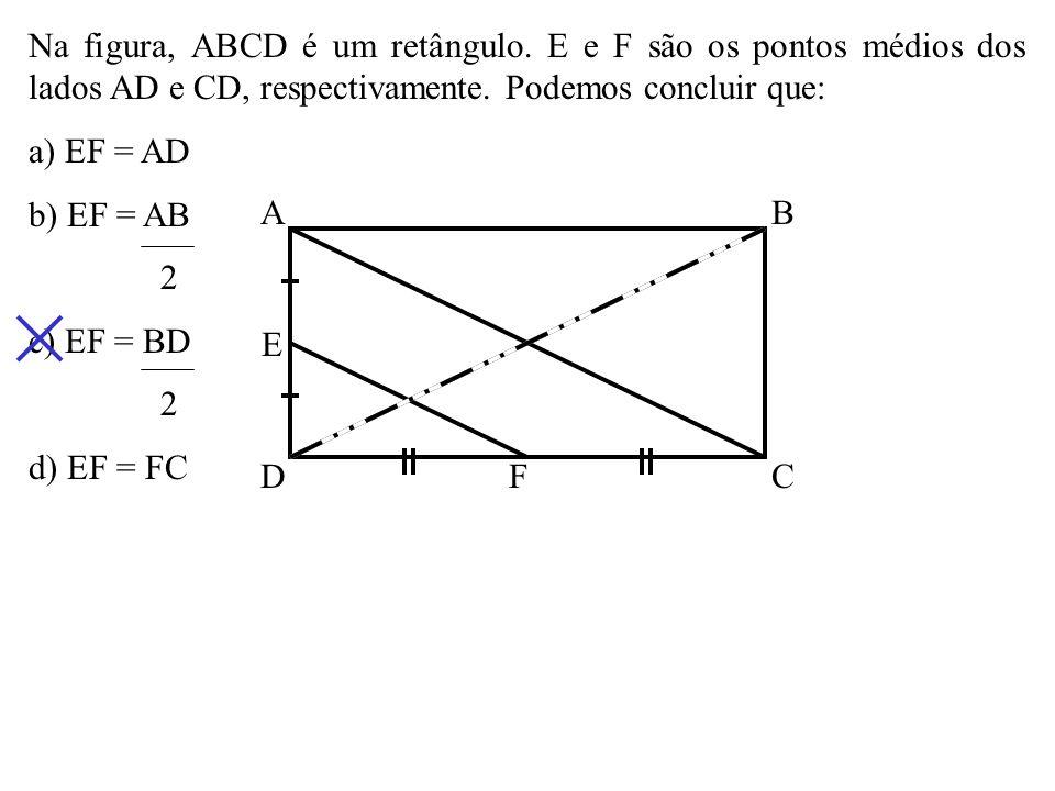 Eqüilátero Num losango, um dos ângulos internos é o dobro do outro. Se a menor de suas diagonais mede x, seu perímetro é a) 3x b) 2 3 x c) 3 2 x d) 4x