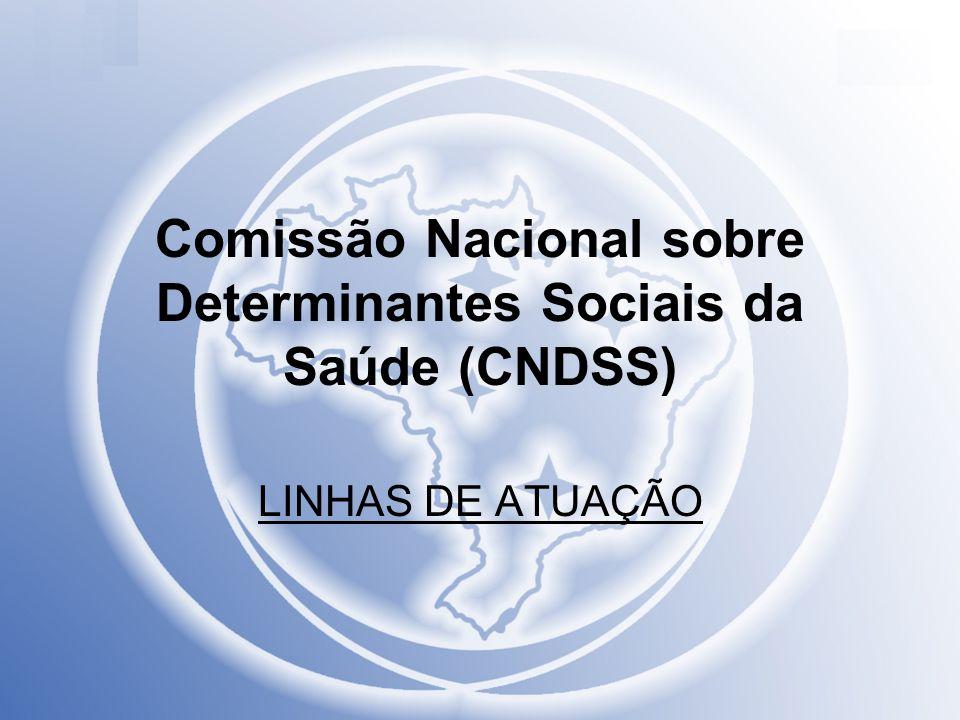 Comissão Nacional sobre Determinantes Sociais da Saúde (CNDSS) LINHAS DE ATUAÇÃO