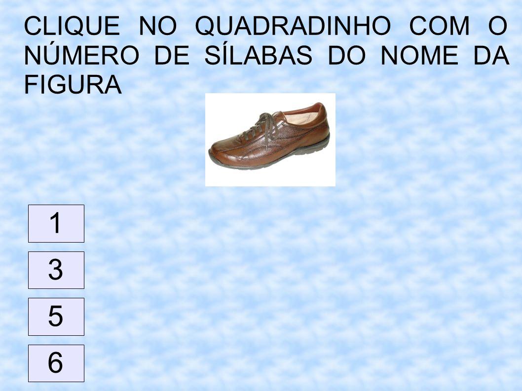 CLIQUE NO QUADRADINHO COM O NÚMERO DE SÍLABAS DO NOME DA FIGURA 1 6 5 3