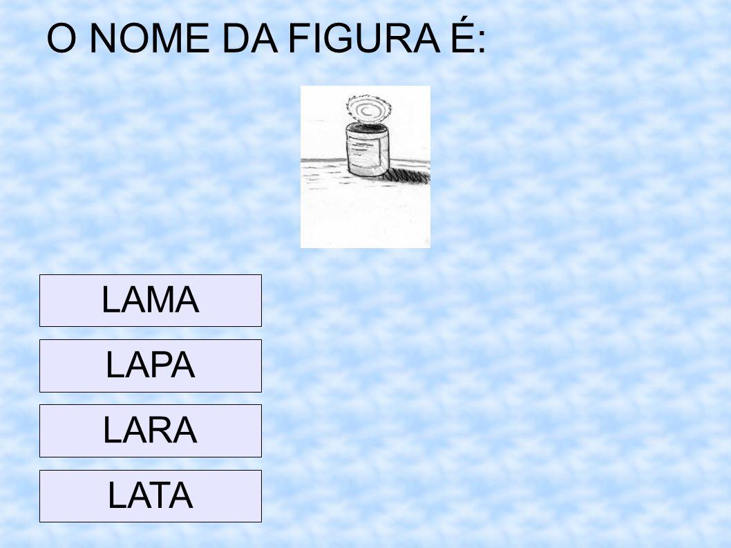 O NOME DA FIGURA É: LAMA LAPA LARA LATA