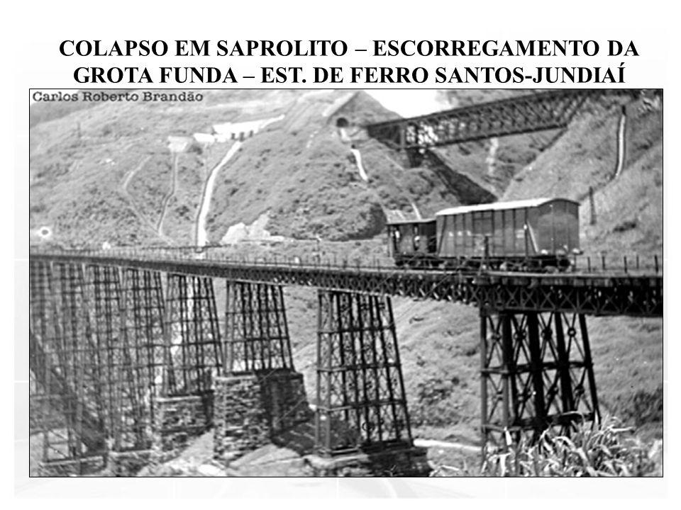 COLAPSO EM SAPROLITO – ESCORREGAMENTO DA GROTA FUNDA – EST. DE FERRO SANTOS-JUNDIAÍ