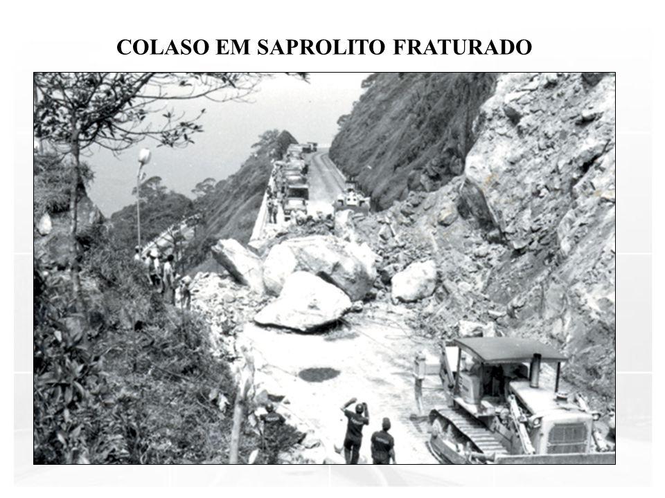COLASO EM SAPROLITO FRATURADO