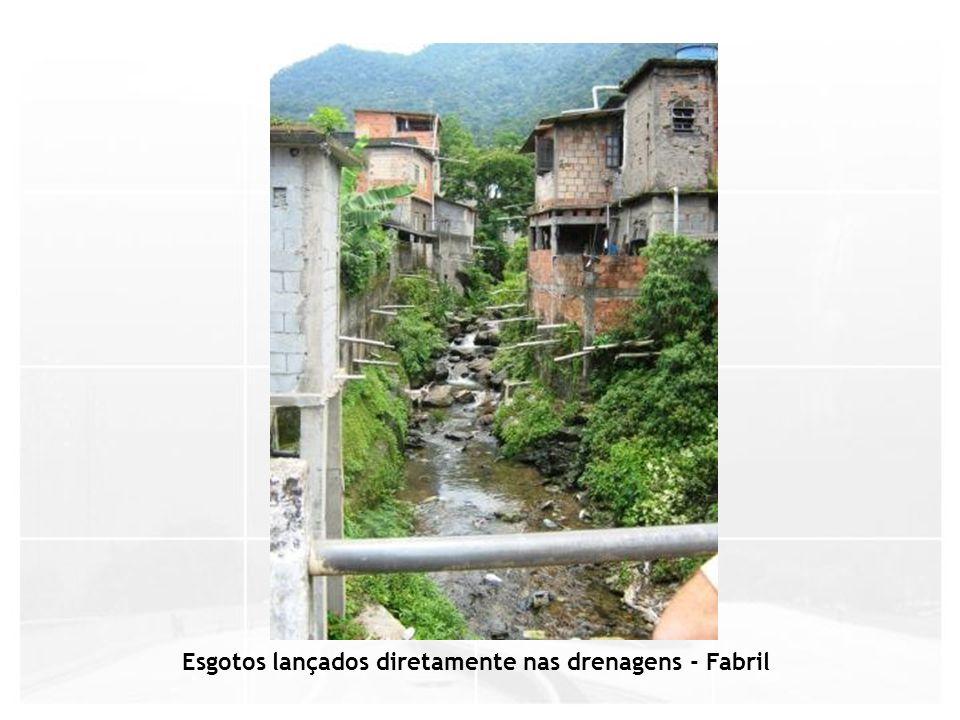 Esgotos lançados diretamente nas drenagens - Fabril