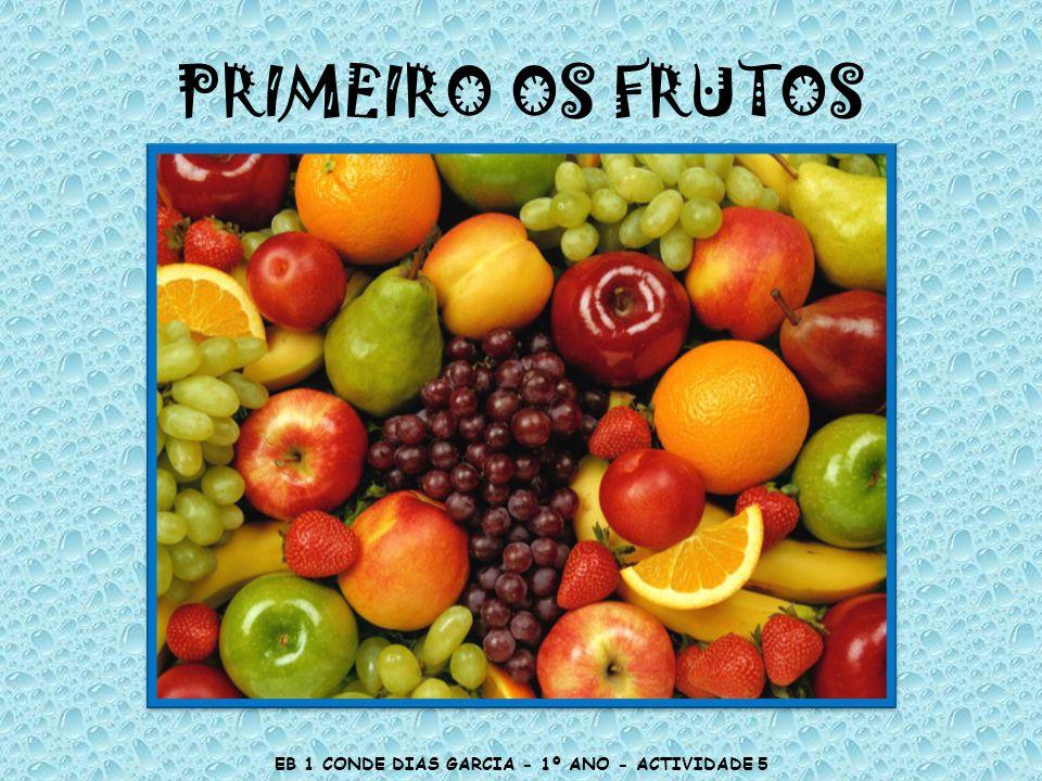PRIMEIRO OS FRUTOS EB 1 CONDE DIAS GARCIA - 1º ANO - ACTIVIDADE 5