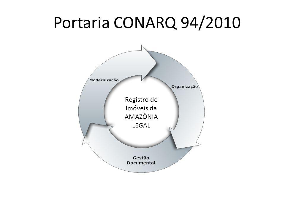 Portaria CONARQ 94/2010 Registro de Imóveis da AMAZÔNIA LEGAL