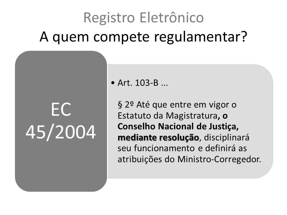 Registro Eletrônico A quem compete regulamentar.mediante resoluçãoArt.