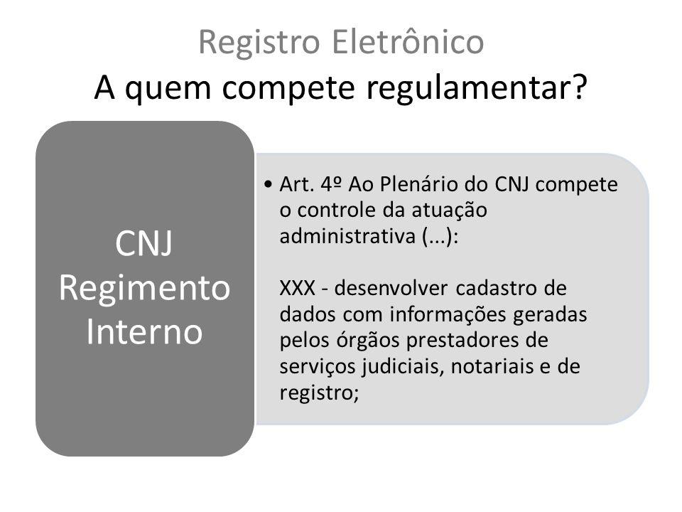 Registro Eletrônico A quem compete regulamentar.Art.