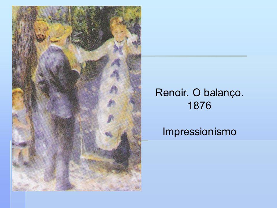 Renoir. O balanço. 1876 Impressionismo