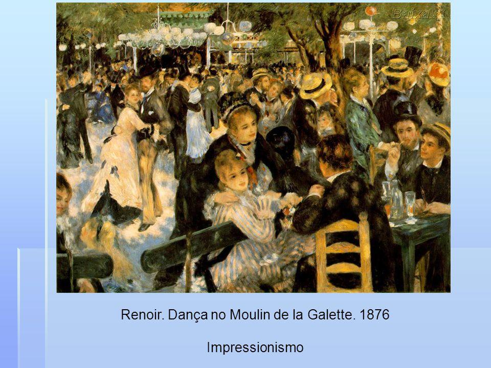 Renoir. Dança no Moulin de la Galette. 1876 Impressionismo