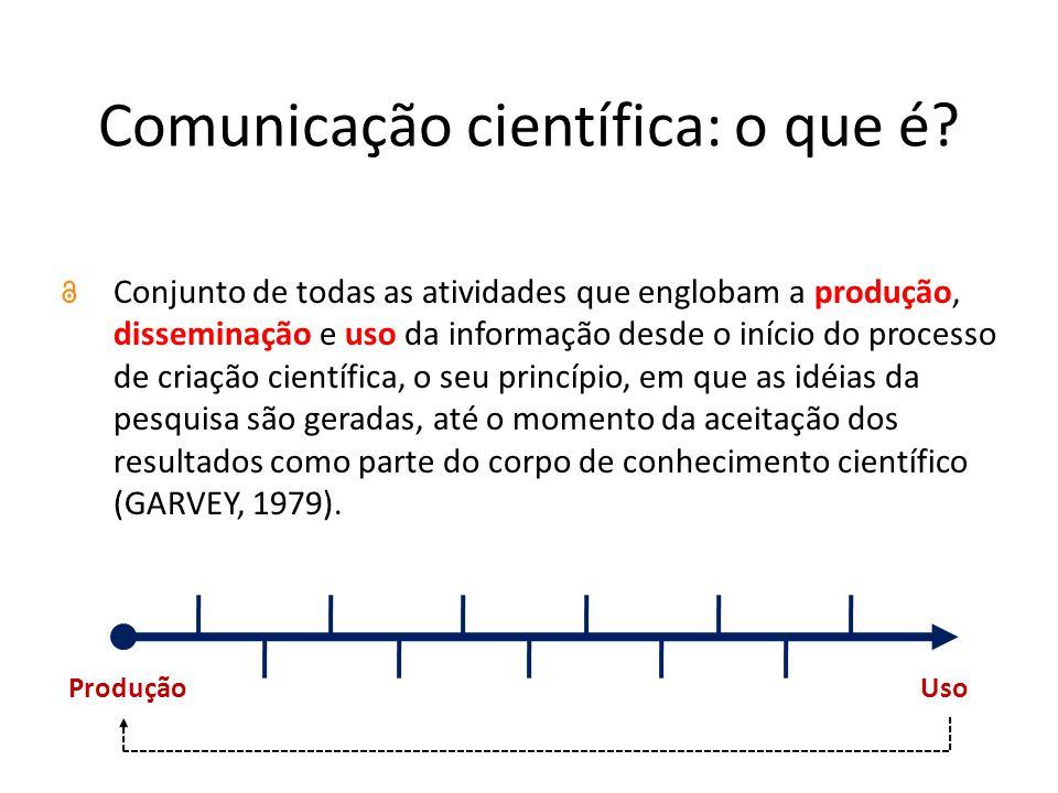 Comunicação científica: o que é.