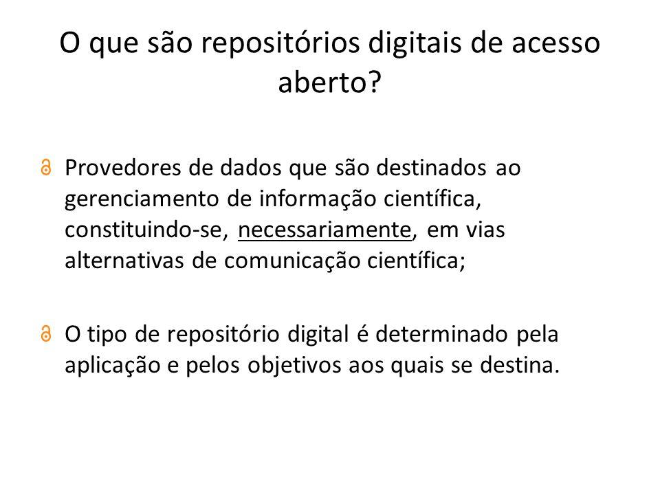 O que são repositórios digitais de acesso aberto.