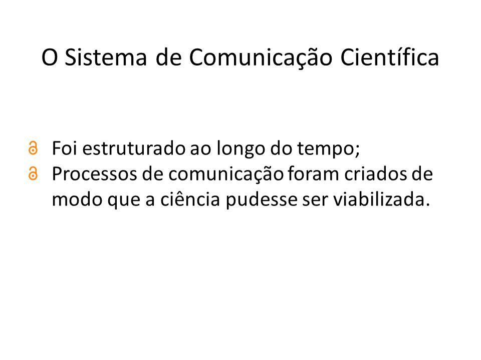 O Sistema de Comunicação Científica Foi estruturado ao longo do tempo; Processos de comunicação foram criados de modo que a ciência pudesse ser viabilizada.