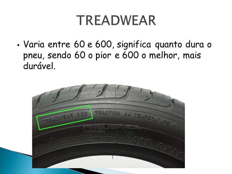 Varia entre 60 e 600, significa quanto dura o pneu, sendo 60 o pior e 600 o melhor, mais durável.