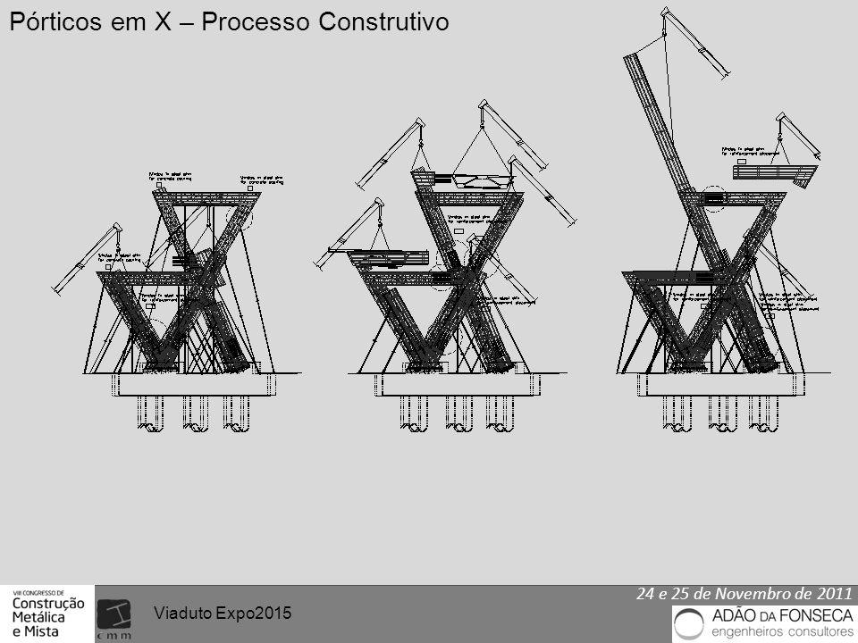 24 e 25 de Novembro de 2011 Viaduto Expo2015 Pórticos em X – Processo Construtivo