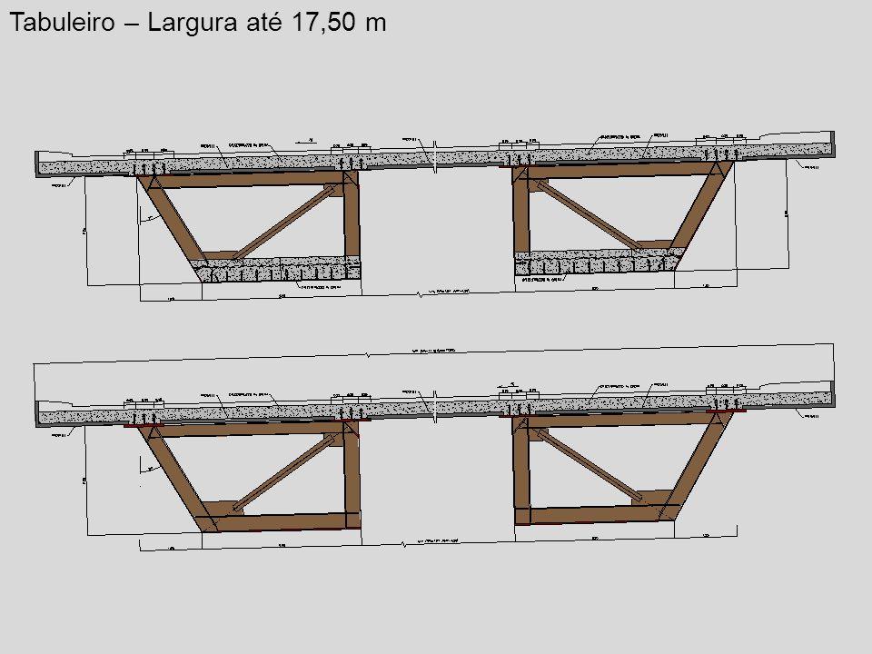 Tabuleiro – Largura até 17,50 m