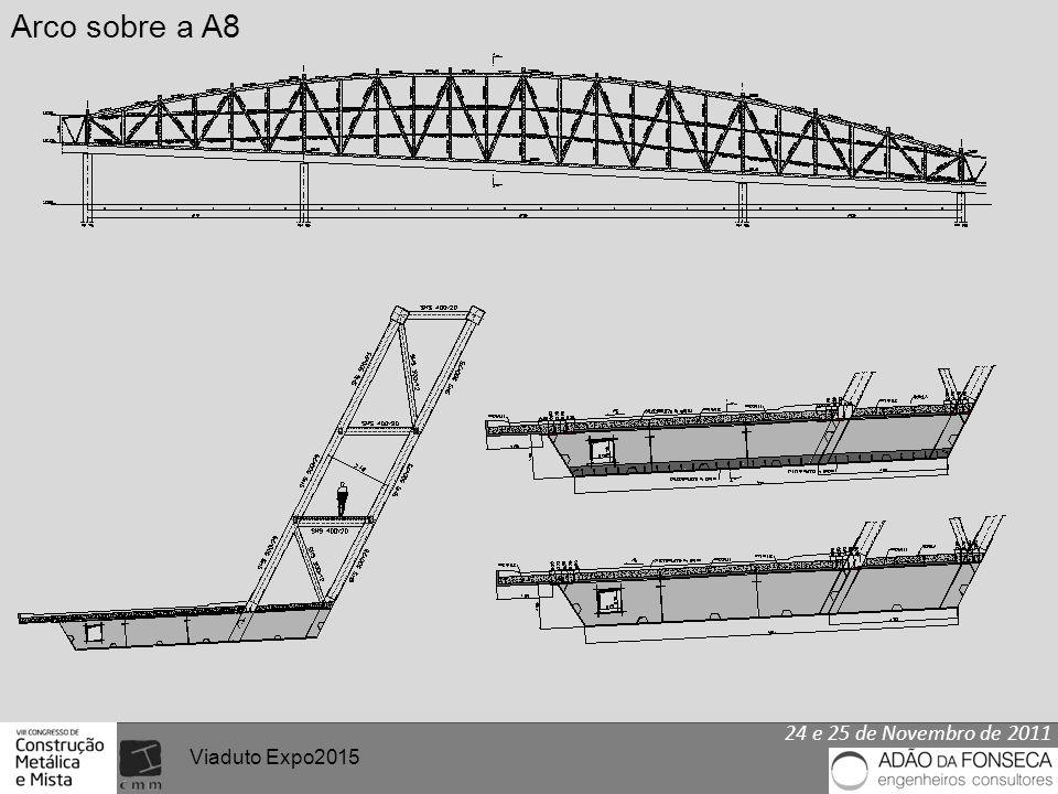 24 e 25 de Novembro de 2011 Viaduto Expo2015 Arco sobre a A8