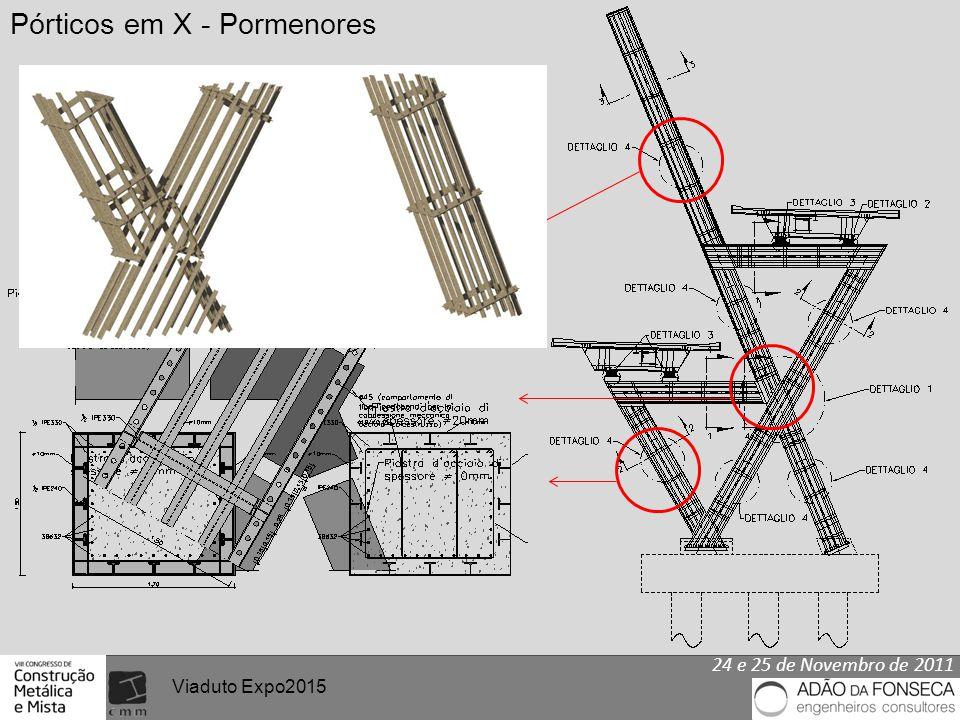 24 e 25 de Novembro de 2011 Viaduto Expo2015 Pórticos em X - Pormenores