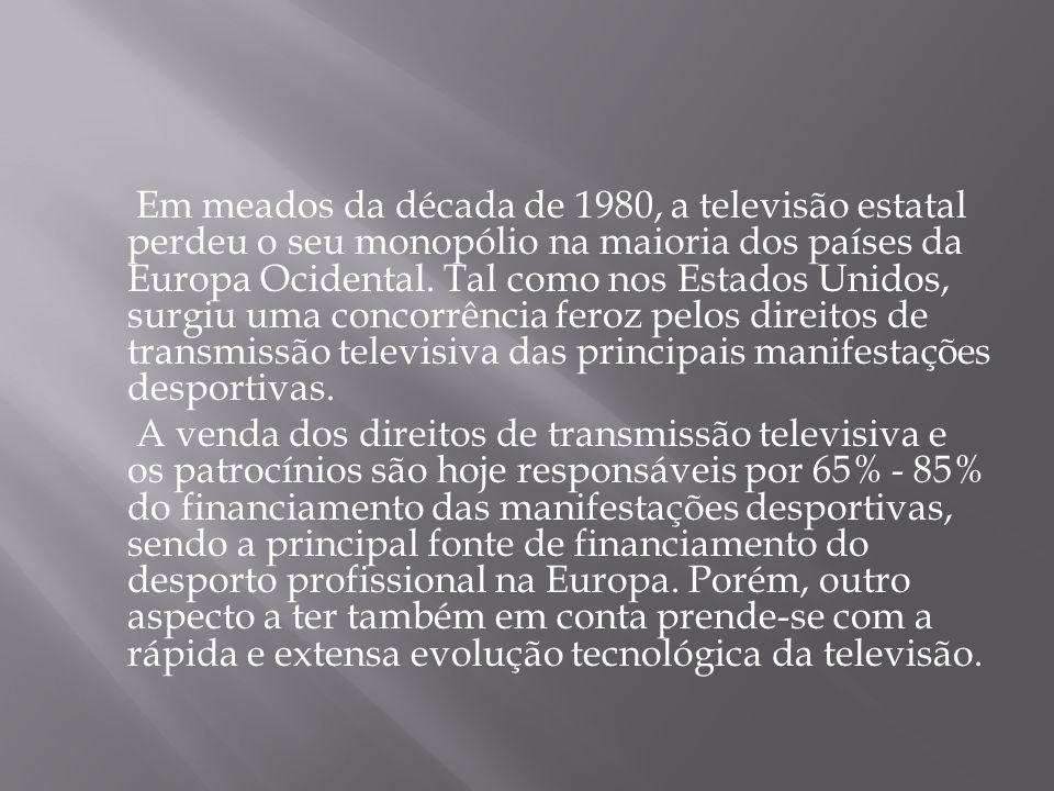 Em meados da década de 1980, a televisão estatal perdeu o seu monopólio na maioria dos países da Europa Ocidental. Tal como nos Estados Unidos, surgiu