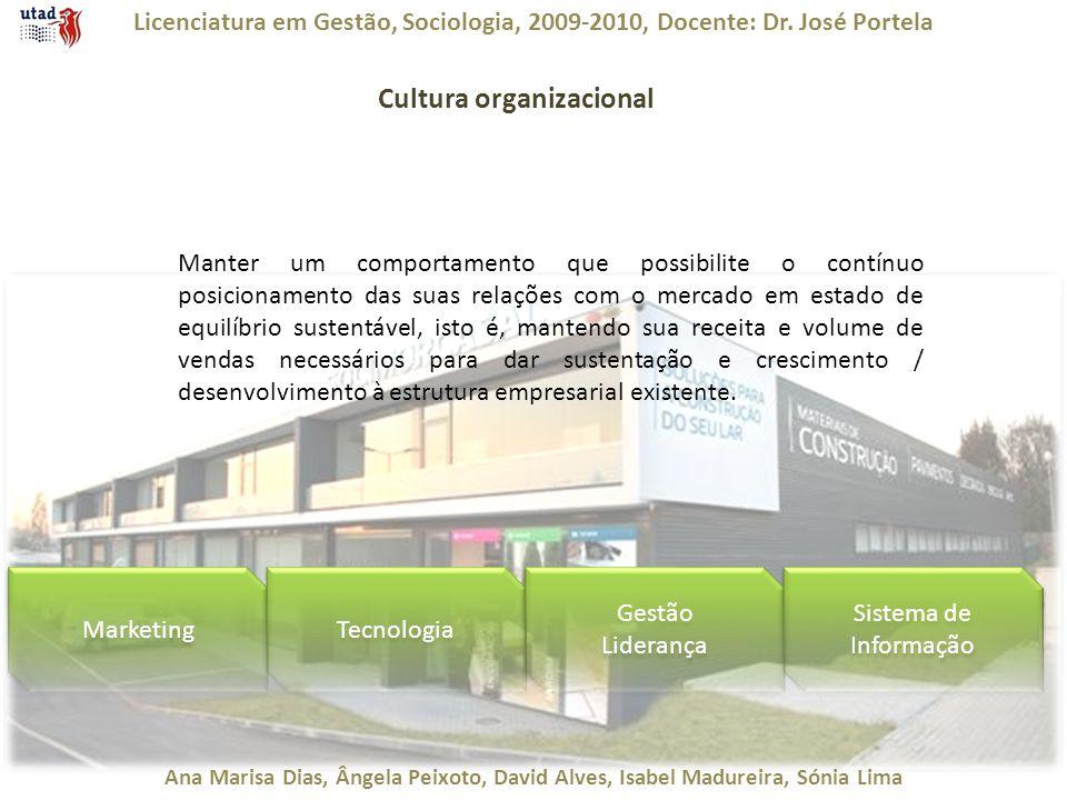 Licenciatura em Gestão, Sociologia, 2009-2010, Docente: Dr. José Portela Ana Marisa Dias, Ângela Peixoto, David Alves, Isabel Madureira, Sónia Lima Cu