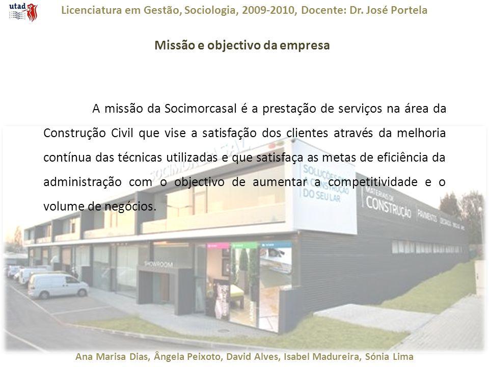 Licenciatura em Gestão, Sociologia, 2009-2010, Docente: Dr. José Portela Ana Marisa Dias, Ângela Peixoto, David Alves, Isabel Madureira, Sónia Lima Mi