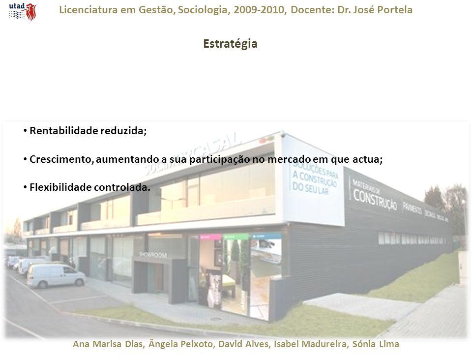 Licenciatura em Gestão, Sociologia, 2009-2010, Docente: Dr. José Portela Ana Marisa Dias, Ângela Peixoto, David Alves, Isabel Madureira, Sónia Lima Es