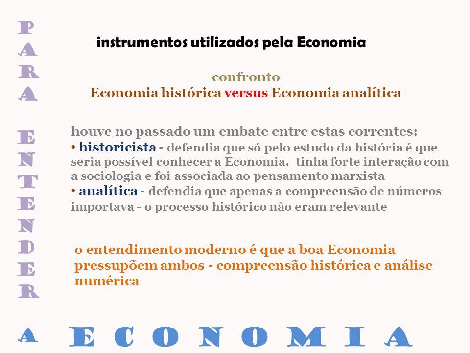 paraentenderaparaentendera confronto Economia histórica versus Economia analítica houve no passado um embate entre estas correntes: historicista - def