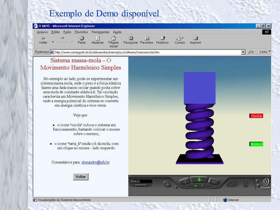 Exemplo de Demo disponível