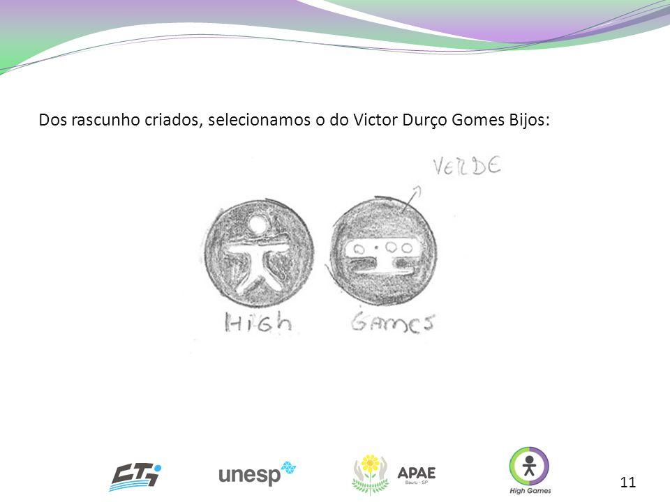Dos rascunho criados, selecionamos o do Victor Durço Gomes Bijos: 11
