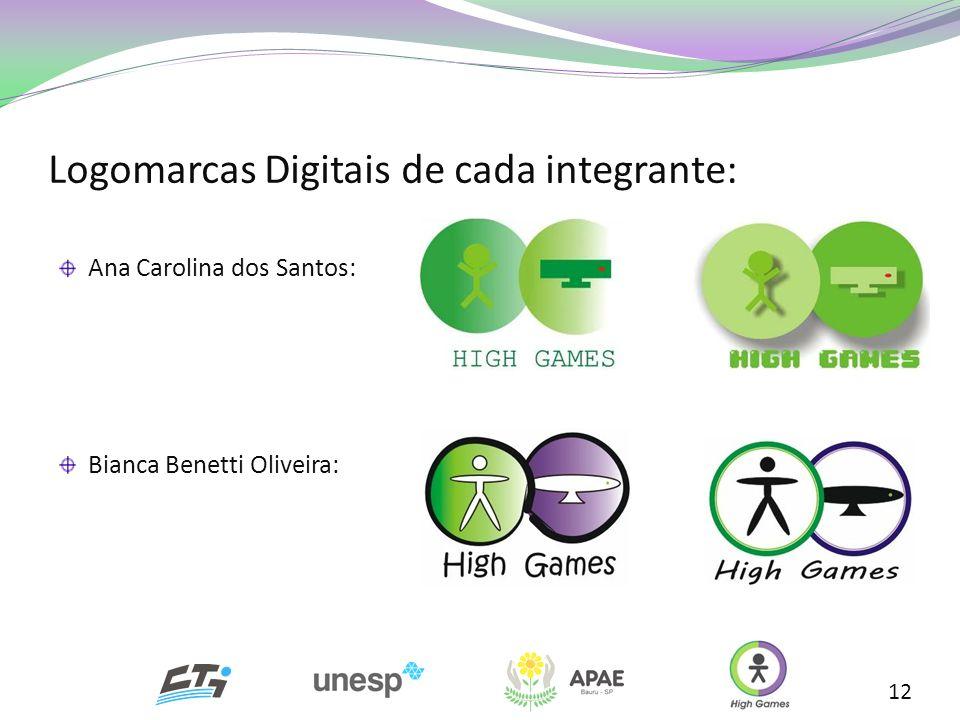 Logomarcas Digitais de cada integrante: 12 Ana Carolina dos Santos: Bianca Benetti Oliveira: