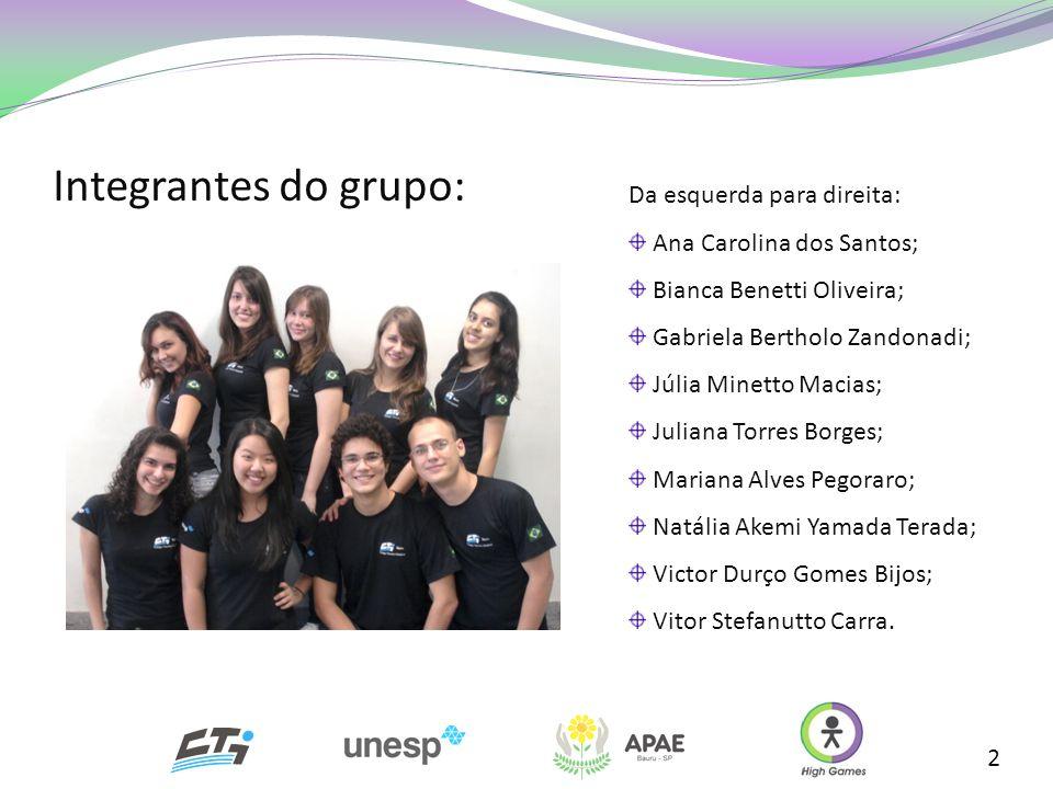 2 Da esquerda para direita: Ana Carolina dos Santos; Bianca Benetti Oliveira; Gabriela Bertholo Zandonadi; Júlia Minetto Macias; Juliana Torres Borges