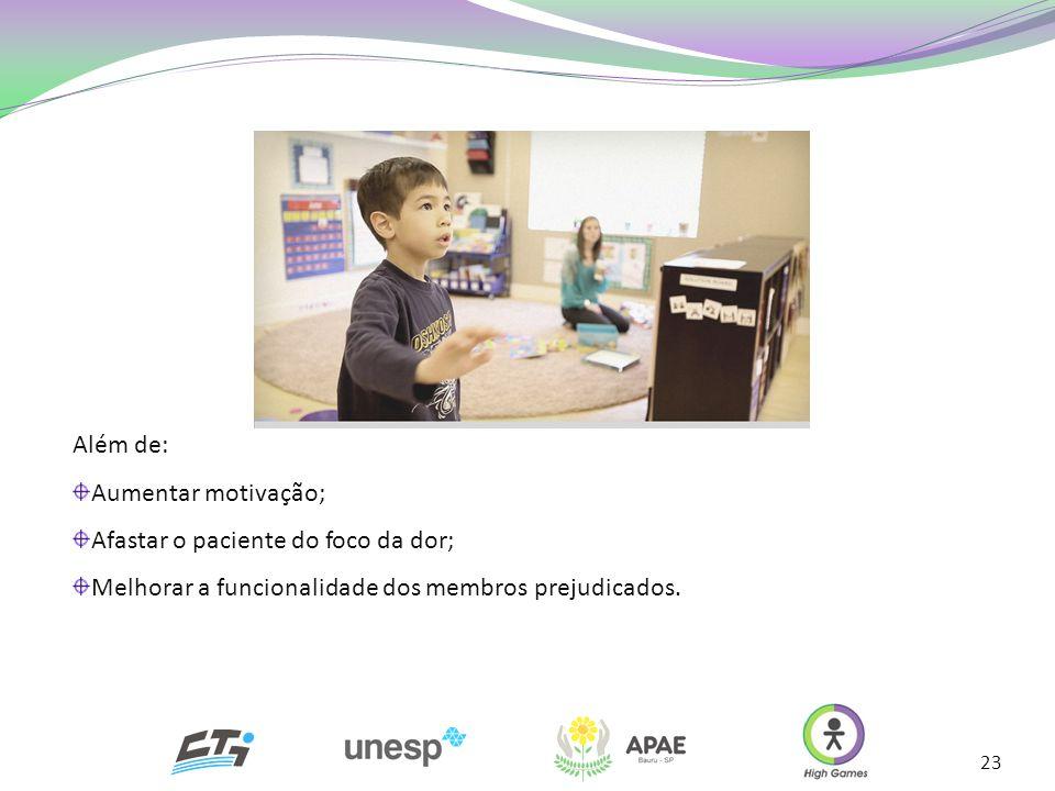23 Além de: Aumentar motivação; Afastar o paciente do foco da dor; Melhorar a funcionalidade dos membros prejudicados.