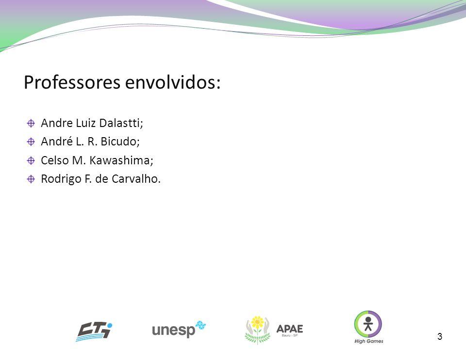 Professores envolvidos: Andre Luiz Dalastti; André L. R. Bicudo; Celso M. Kawashima; Rodrigo F. de Carvalho. 3