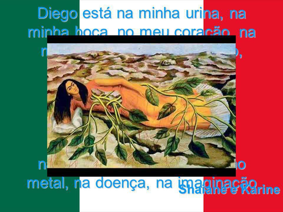 Diego está na minha urina, na minha boca, no meu coração, na minha loucura, no meu sono, nas paisagens, na comida, no metal, na doença, na imaginação