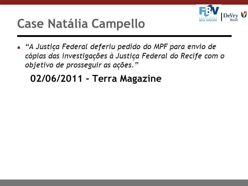 n A Justiça Federal deferiu pedido do MPF para envio de cópias das investigações à Justiça Federal do Recife com o objetivo de prosseguir as ações. 02