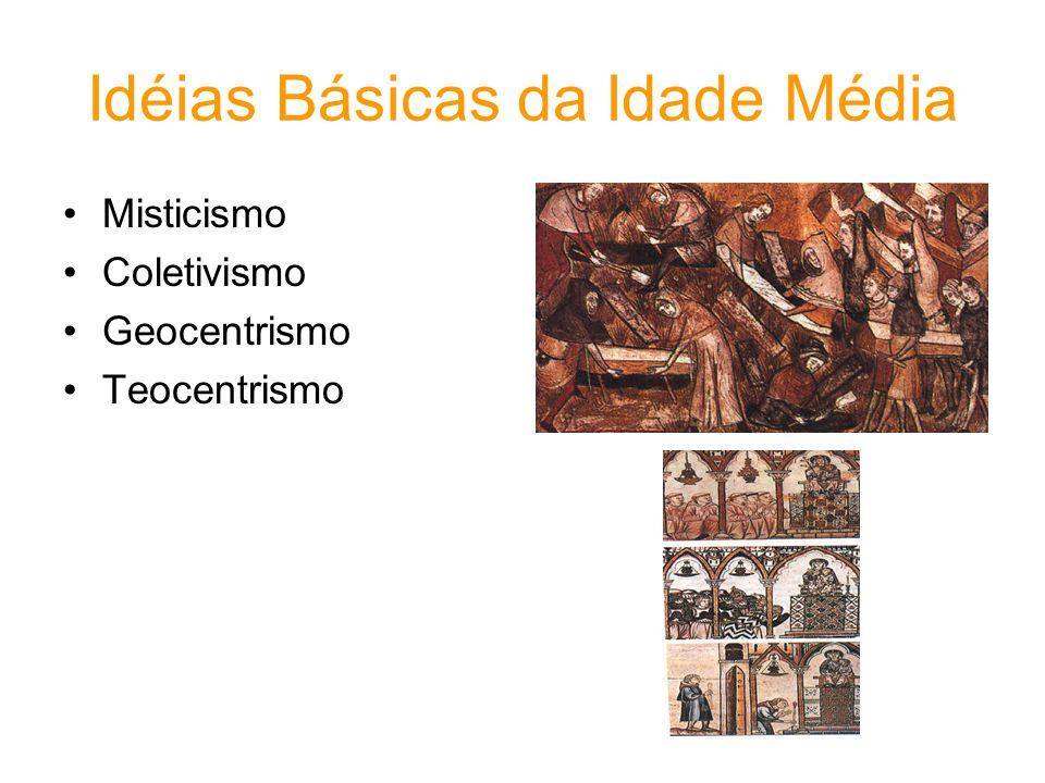 Idéias Básicas da Idade Média Misticismo Coletivismo Geocentrismo Teocentrismo