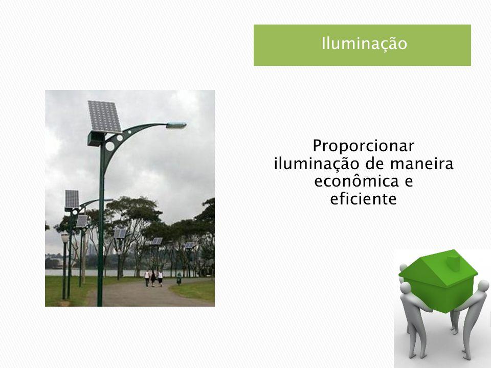 Iluminação Proporcionar iluminação de maneira econômica e eficiente