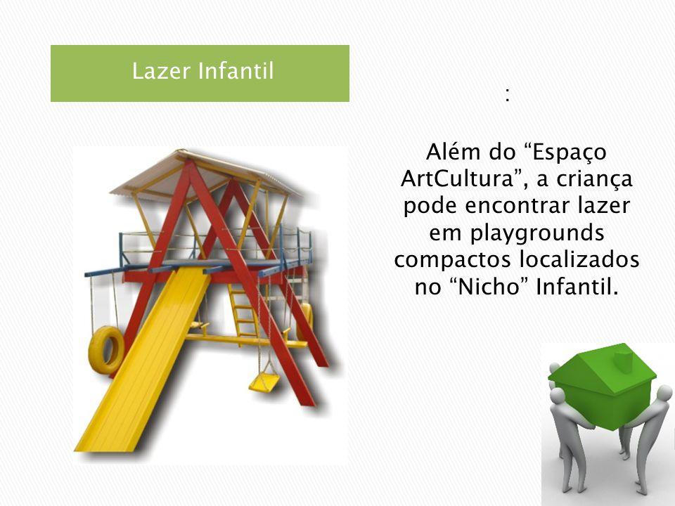 Lazer Infantil : Além do Espaço ArtCultura, a criança pode encontrar lazer em playgrounds compactos localizados no Nicho Infantil.
