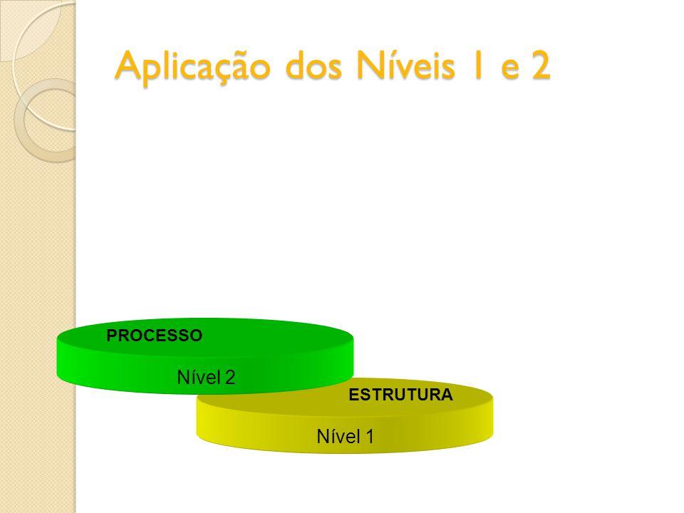 Os 3 Níveis Nível 1 ESTRUTURA Nível 2 PROCESSO Nível 3 RESULTADO