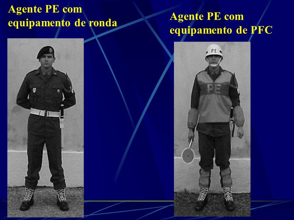 Agente PE com equipamento de ronda Agente PE com equipamento de PFC
