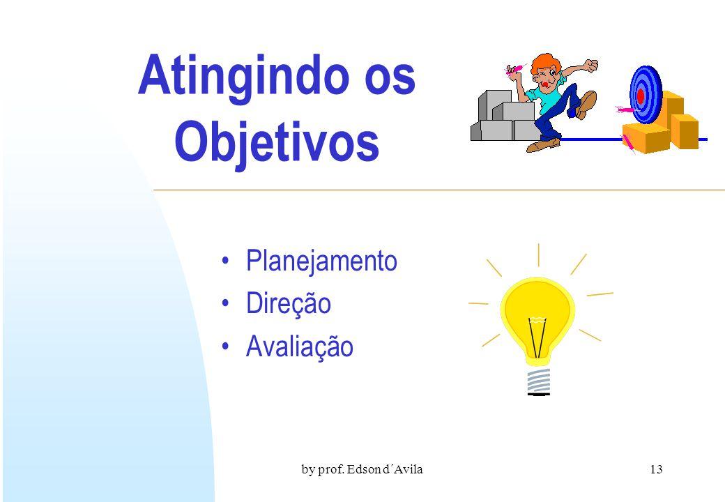 by prof. Edson d´Avila12 A Liderança conduz o grupo ao objetivo A liderança se produz na interação dos membros do grupo como expressão de ativa partic