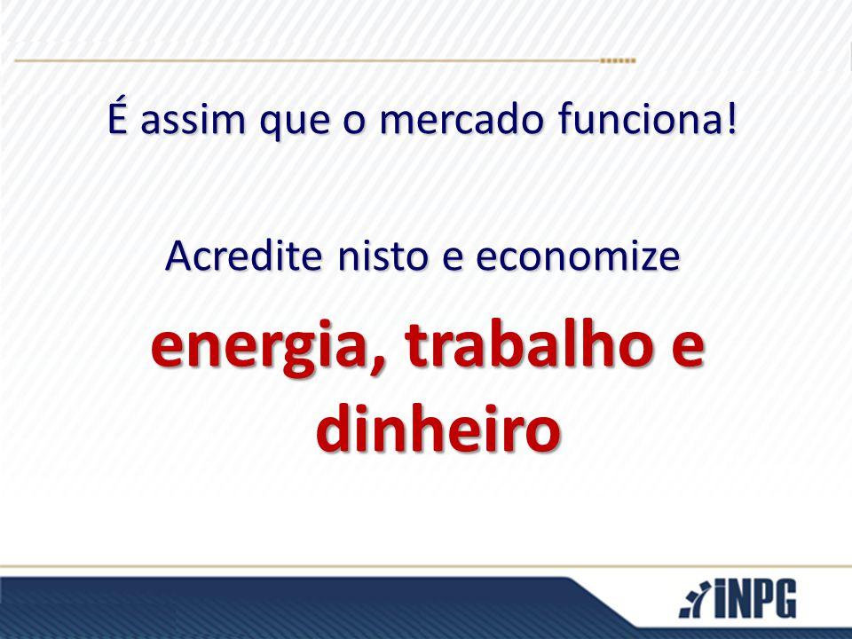 É assim que o mercado funciona! Acredite nisto e economize energia, trabalho e dinheiro energia, trabalho e dinheiro
