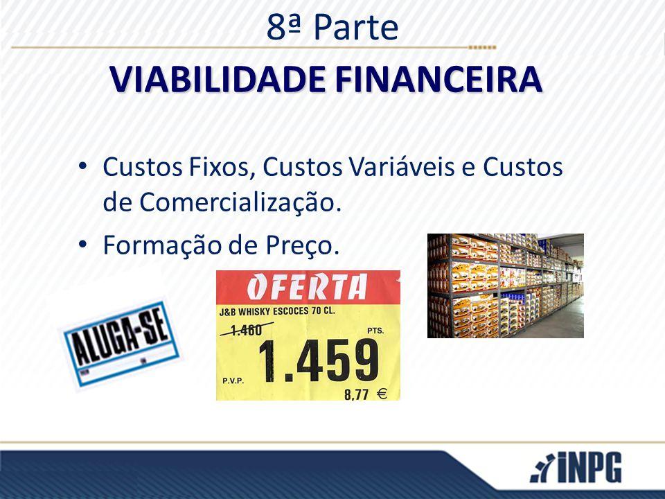 8ª Parte Custos Fixos, Custos Variáveis e Custos de Comercialização. Formação de Preço. VIABILIDADE FINANCEIRA