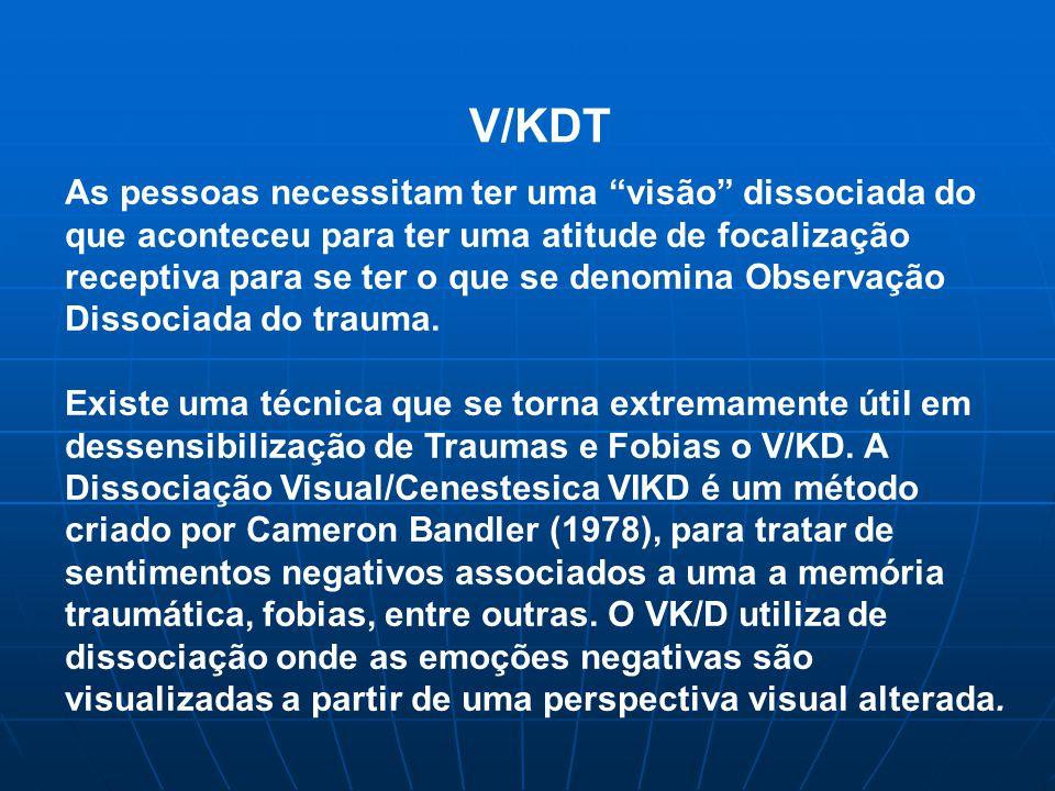 V/KDT As pessoas necessitam ter uma visão dissociada do que aconteceu para ter uma atitude de focalização receptiva para se ter o que se denomina Observação Dissociada do trauma.