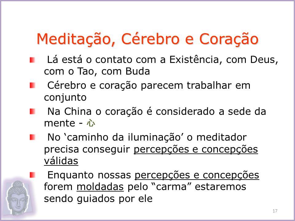 Lá está o contato com a Existência, com Deus, com o Tao, com Buda Cérebro e coração parecem trabalhar em conjunto Na China o coração é considerado a s
