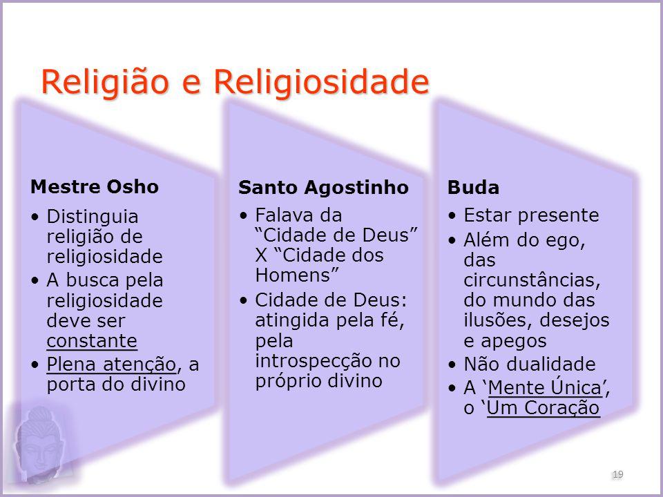 Religião e Religiosidade Mestre Osho Distinguia religião de religiosidade A busca pela religiosidade deve ser constante Plena atenção, a porta do divi