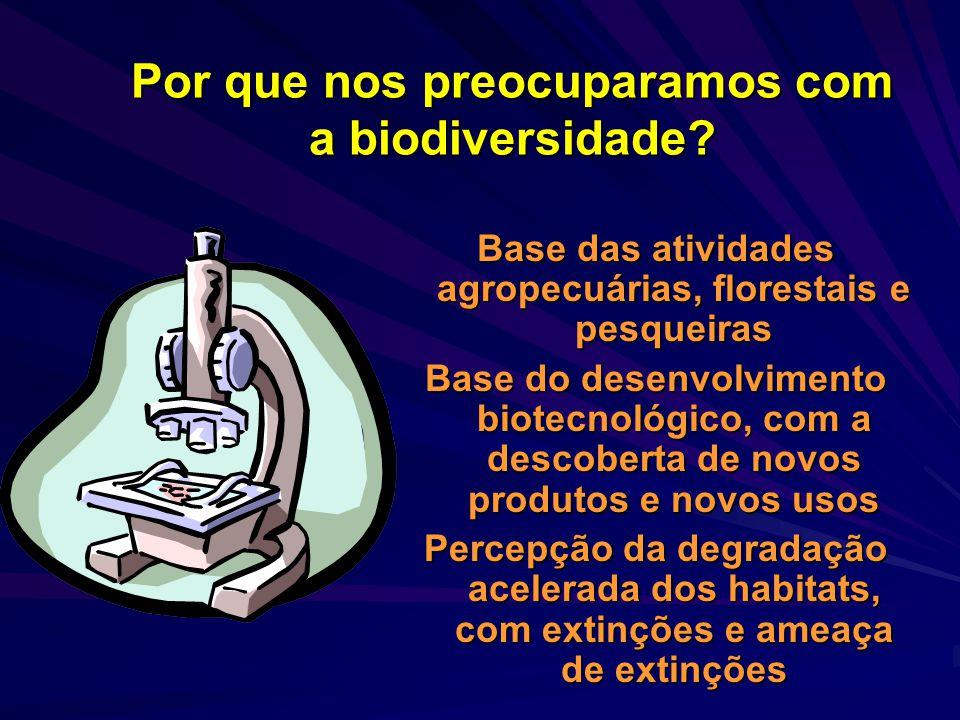 O que é biodiversidade? A diversidade se expressa nos mais diversos níveis de organização biológica. É a soma de toda a variabilidade biológica desde