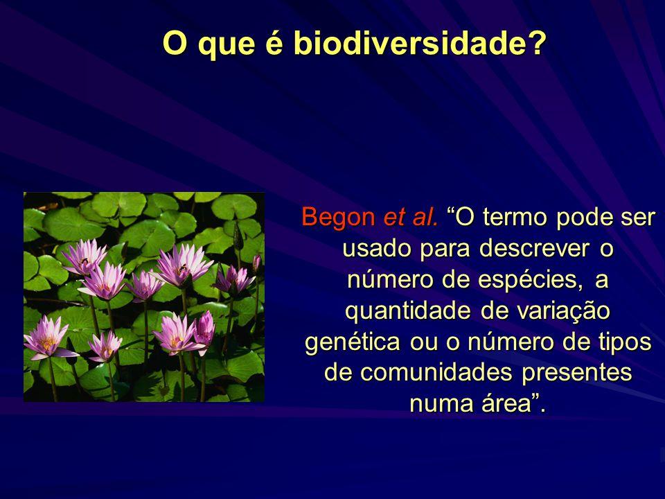O que é biodiversidade.Begon et al.