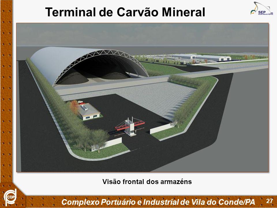 27 Complexo Portuário e Industrial de Vila do Conde/PA Terminal de Carvão Mineral Visão frontal dos armazéns