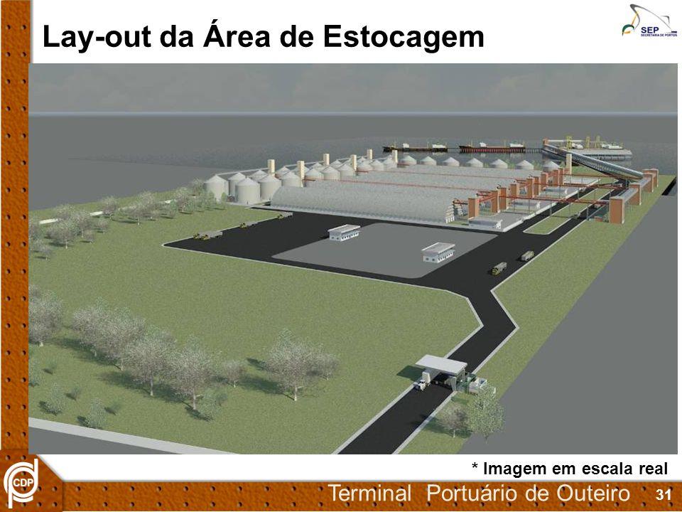 31 Terminal Portuário de Outeiro Lay-out da Área de Estocagem * Imagem em escala real